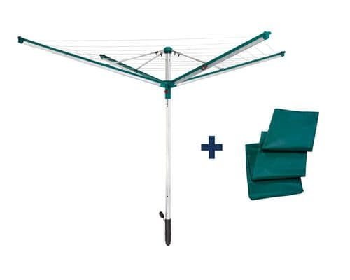 LEIFHEIT Linomatic 600 Deluxe Rotary Washing Line Airer Dryer 60m With Cover