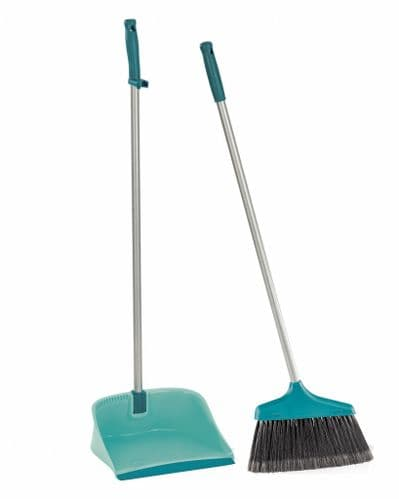 LEIFHEIT Long Handled Open Dustpan And Brush Set