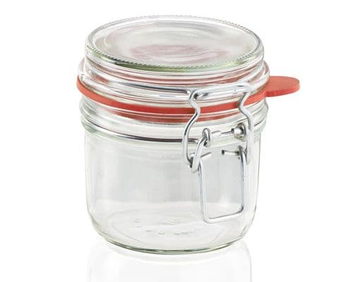 LEIFHEIT  Preserving and Storage Glass Jar With Clip Top Fastening Seal 255ml