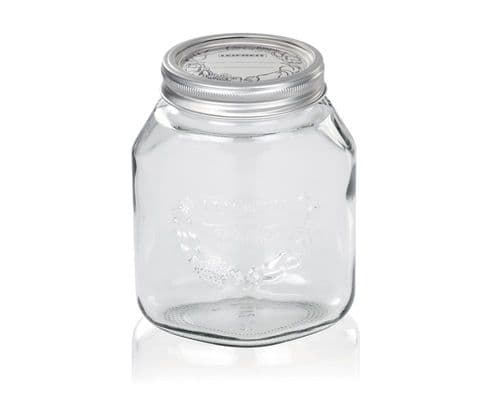 LEIFHEIT  Preserving and Storage Glass Jar With Screw Top Lid 1000ml