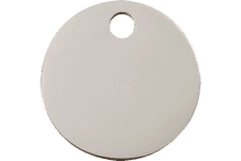 25mm Highly Polished Silver ID Disc
