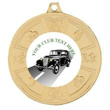 50mm Vintage Car Medal