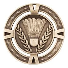 Badminton 60mm Medal