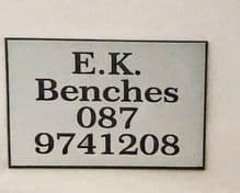 Bench Sign Outdoor/Indoor Credit Card Size Silver Engraving Plate Matte Finish with Black Writing