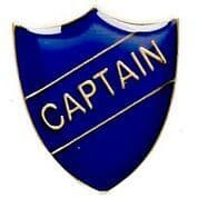 Blue Captain Shield Badge