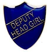 Blue Deputy Head Girl Shield Badge