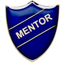Blue Mentor Shield Badge