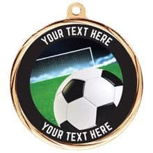 Custom Made Bespoke Soccer Medal 55mm  Including Ribbon