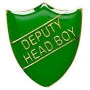 Green Deputy Head Boy  Shield Badge