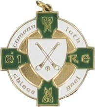 Green & Gold 34mm Hurling Medal