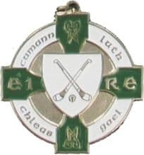 Green & Silver 34mm Hurling Medal