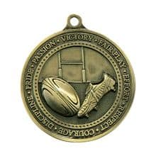 Olympia 60mm Rugby Medal