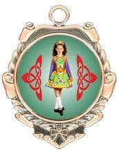 Polished Back 40mm Irish Dancing Medal