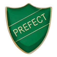 Prefect Shield Badge Green