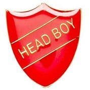 Red Head Boy Shield Badge