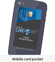 Silicone Mobile Card Pocket