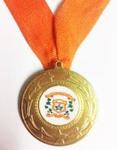 Star Burst Medal Deal Including Your Logo & any colour ribbon Ribbon, Pack of 50 only €1.60 each