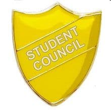 Student Council Shield Badge Yellow