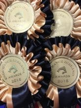 Two Tier Rosettes - Black & Gold