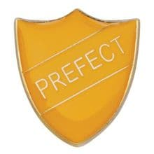 Yellow Shield Prefect Badge