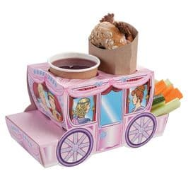 Cinderella Pink Stage Coach Combi Meal Party Box Tray
