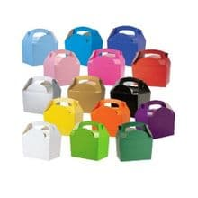 Coloured Meal Party Boxes