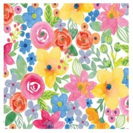 Floral Watercolor Patterned Tissue Wrapping Paper ~ Large Sheets ~ 50cm x 75cm (1)