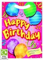 Girl's Happy Birthday (Pink) Party Loot Bag