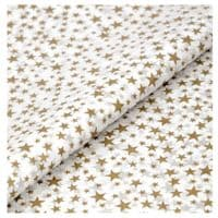 Gold Stars Tissue Wrapping Paper ~ Small Sheets ~ 50cm x 37.5cm