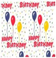 Happy Birthday Tissue Wrapping Paper ~ Small Sheets ~ 50cm x 37.5cm