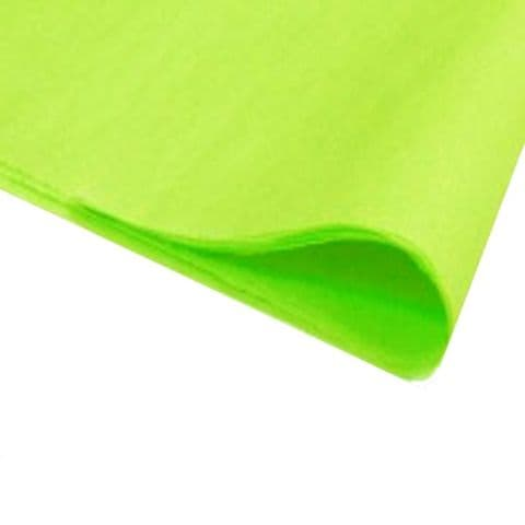 Lime Green Tissue Wrapping Paper ~ Large Sheets ~ 50cm x 75cm