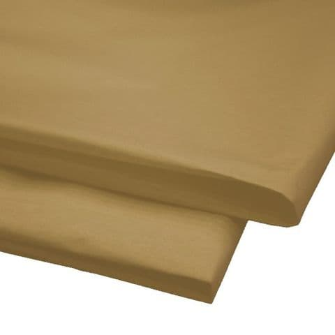 Natural / Light Brown Tissue Wrapping Paper ~ Large Sheets ~ 50cm x 75cm