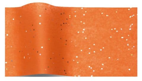 Orange Sparkly Gemstone Tissue Wrapping Paper Sheets ~ Large Sheets ~ 50cm x 75cm