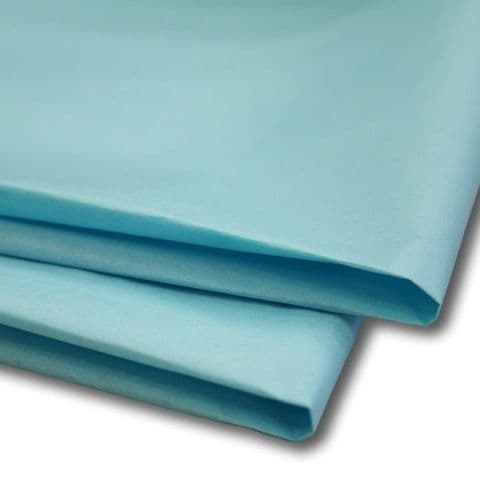 Pale / Light Blue Tissue Wrapping Paper ~ Large Sheets ~ 50cm x 75cm