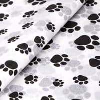 Paw Prints Patterned  Tissue Wrapping Paper ~ Small Sheets ~ 50cm x 37.5cm