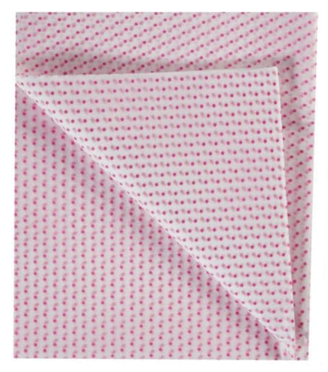 Pink Spotty Dotty Dots - Polka Dot Spots Tissue Wrapping Paper ~ Large Sheets ~ 50cm x 75cm (1)