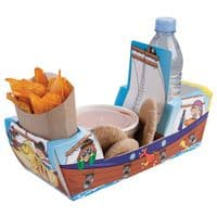 Pirate Galleon Ship Combi Meal Party Box Tray