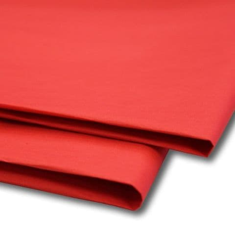 Red Tissue Wrapping Paper ~ Large Sheets ~ 50cm x 75cm