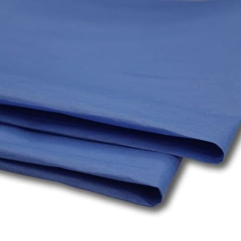 Royal Blue Tissue Wrapping Paper ~ Large Sheets ~ 50cm x 75cm