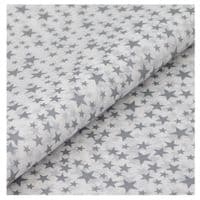 Silver Stars Patterned Tissue Wrapping Paper ~ Large Sheets ~ 50cm x 75cm