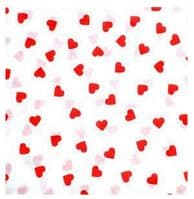 Small Hearts Red Love Heart Tissue Wrapping Paper ~ Small Sheets ~ 50cm x 37.5cm
