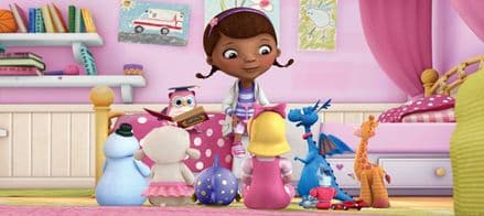 """ Dr. McStuffins"" Panoramic mural wallpaper 202x90cm"