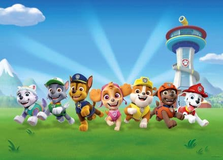 """Paw Patrol"" wall mural wallpaper 160x110cm"