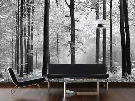 Avalon black forest wall mural