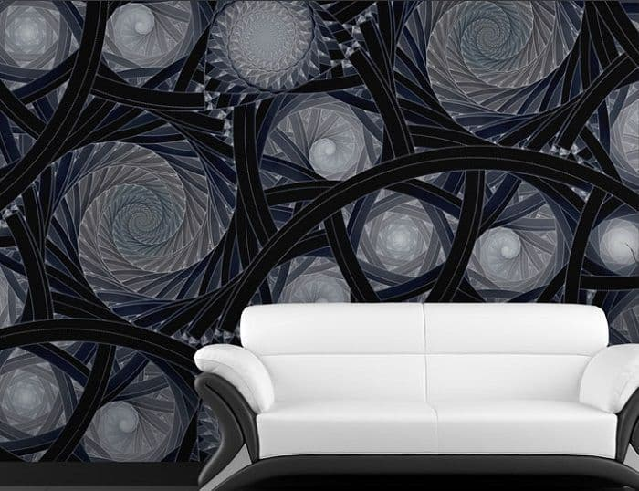 Black abstract composition paper wallpaper by Homewallmurals