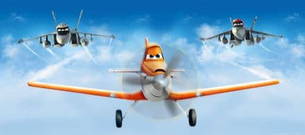 "Disney ""Planes"" Panoramic mural wallpaper 202x90cm Rusty"