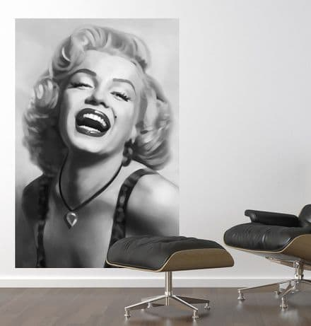 Marilyn Black and White giant wall art wall mural poster