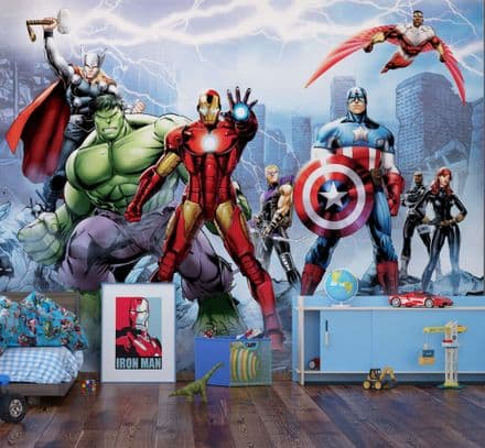 "Marvel Avengers Team Premium wallpaper mural ""Cartoon"""