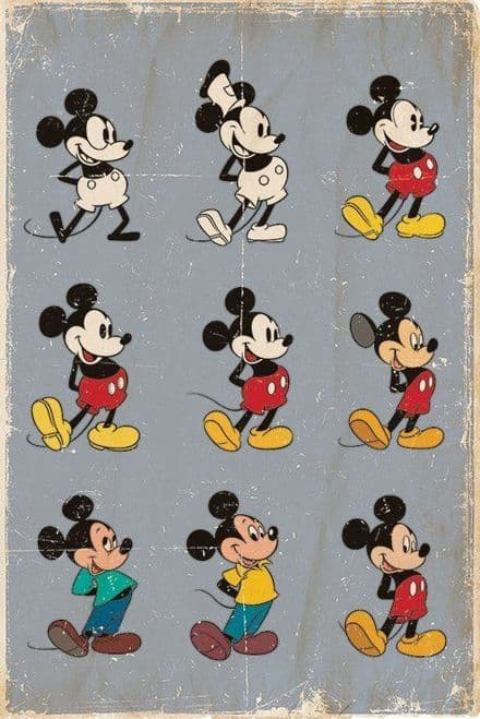 Mickey Mouse Evolution 61x91,5cm Poster