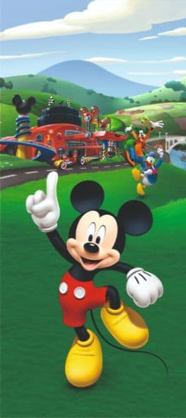 Mickey Mouse mural wallpaper 90x202cm